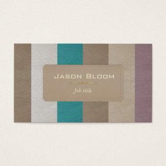 Cartão De Visitas Listras de couro coloridas