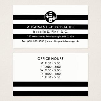 Cartão De Visitas Listras e horas de escritório do logotipo da