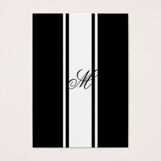 Cartão De Visitas Listras e monograma brancos