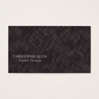 Cartão De Visitas Listras esboçado de Minimalistic (carvão vegetal)