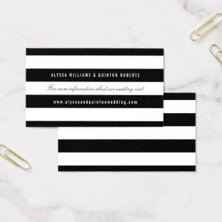 Cartão De Visitas Listras pretas corajosas que Wedding a inserção da