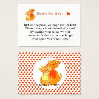 Cartão De Visitas Livros bonitos super do gato e do gatinho para o