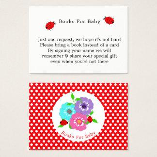 Cartão De Visitas Livros irrisórios bonitos dos joaninhas bonito das