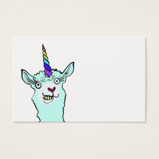 Cartão De Visitas Llamacorn louco
