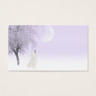 Cartão De Visitas Lobo branco do urro
