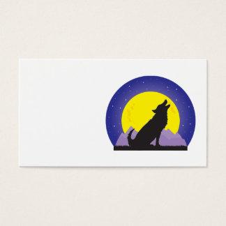 Cartão De Visitas Lobo e lua