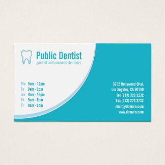 Cartão De Visitas Logotipo azul moderno do dente do dentista dos