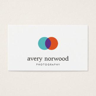 Cartão De Visitas Logotipo branco moderno legal da fotografia do