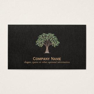 Cartão De Visitas Logotipo clássico da árvore
