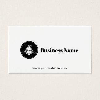 Cartão De Visitas Logotipo da abelha do mel minimalista