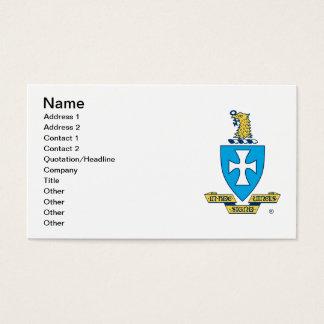 Cartão De Visitas Logotipo da crista do qui do Sigma