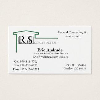 Cartão De Visitas Logotipo de ROCKSTAR, construção de Rockstar, Eric