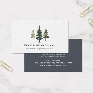 Cartão De Visitas Logotipo do pinheiro