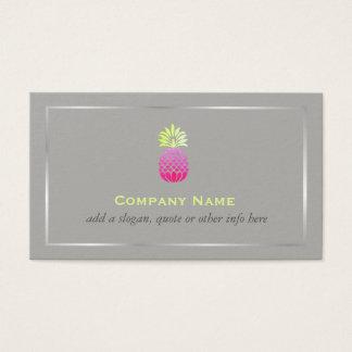 Cartão De Visitas Logotipo elegante -2 genérico do abacaxi do