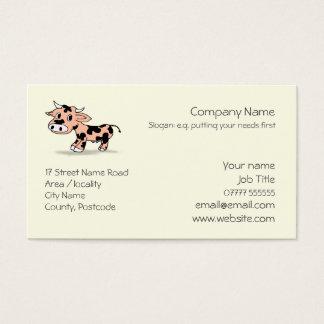 Cartão De Visitas Logotipo modelado da vaca dos desenhos animados
