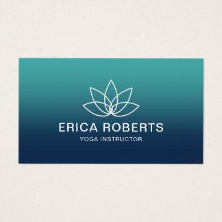 Cartão De Visitas Logotipo moderno de Lotus do instrutor da ioga