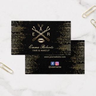 Cartão De Visitas Logotipo moderno do cabeleireiro do maquilhador
