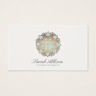 Cartão De Visitas Logotipo orgânico dos termas e do salão de beleza