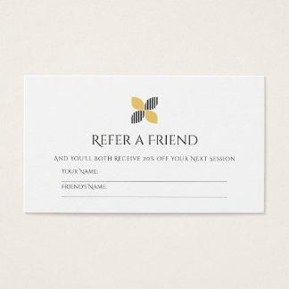 Cartão De Visitas Logotipo preto chique do ouro da referência