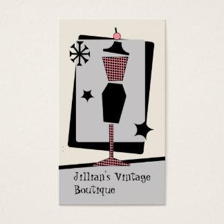Cartão De Visitas Loja/boutique do vintage - formulário do vestido