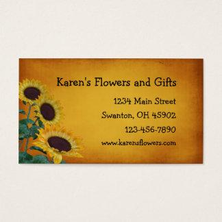 Cartão De Visitas Loja de lembranças do artesanato da flor