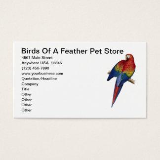 Cartão De Visitas Loja do animal de estimação do cuidado da criação