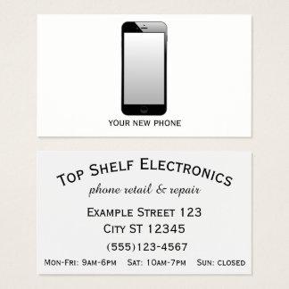 Cartão De Visitas Loja do telefone - varejo & reparo do telefone