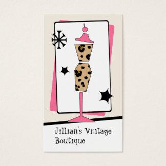 Cartão De Visitas Loja do vintage/boutique - formulário do vestido