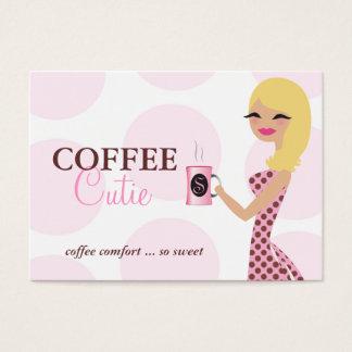 Cartão De Visitas Louro de Cutie do café 311 ondulado