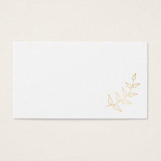 Cartão De Visitas Louros elegantes vazios do ouro