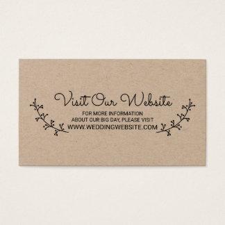 Cartão De Visitas Louros rústicos que Wedding o Web site