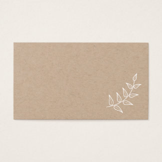 Cartão De Visitas Louros rústicos vazios