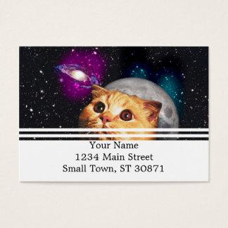 Cartão De Visitas lua do gato, gato e lua, catmoon, gato da lua
