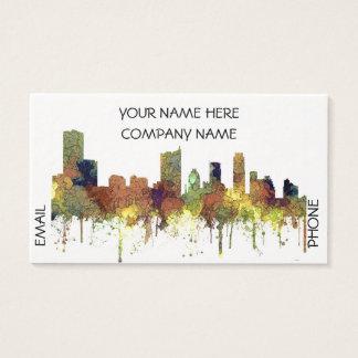 Cartão De Visitas Lustre do SG-Safari da skyline de Austin Texas