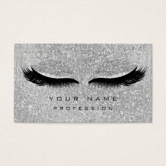 Cartão De Visitas Lux cinzento metálico do brilho dos chicotes das
