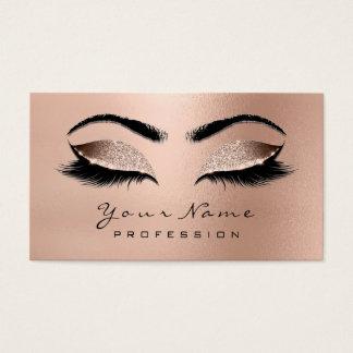 Cartão De Visitas Lux cor-de-rosa do ouro do brilho dos chicotes dos