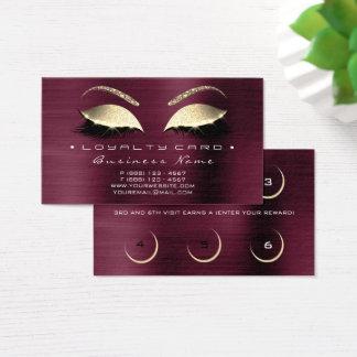 Cartão De Visitas Lux de Borgonha dos chicotes do salão de beleza do