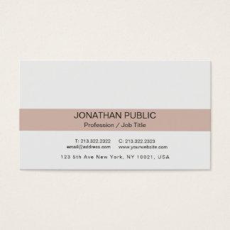 Cartão De Visitas Luxe liso elegante profissional moderno