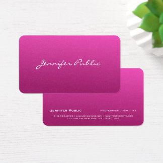 Cartão De Visitas Luxo cor-de-rosa à moda moderno profissional da