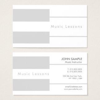 Cartão De Visitas Luxo da instrução das lições de música do