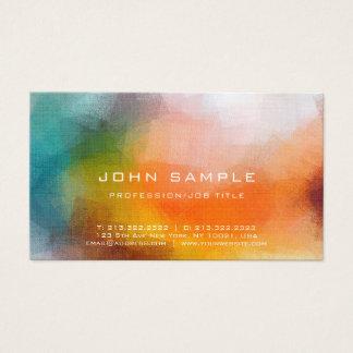 Cartão De Visitas Luxo de linho superior da arte abstracta