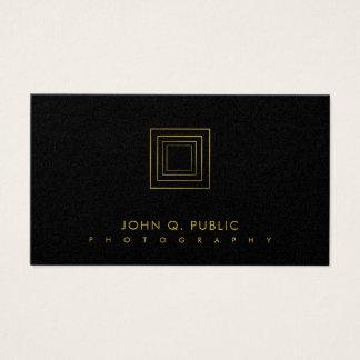 Cartão De Visitas Luxo elegante da fotografia do olhar do ouro do