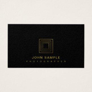 Cartão De Visitas Luxo elegante do na moda da fotografia do