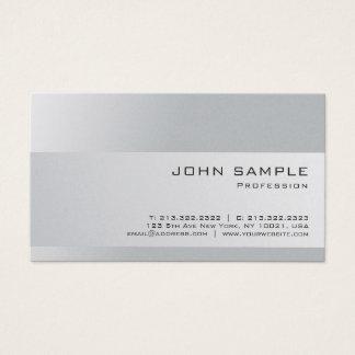 Cartão De Visitas Luxo elegante profissional na moda das cinzas de