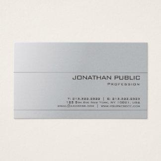Cartão De Visitas Luxo minimalista elegante cinzento do design do
