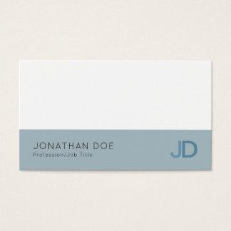 Cartão De Visitas Luxo profissional moderno azul elegante do