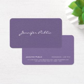 Cartão De Visitas Luxo violeta à moda moderno profissional da pérola