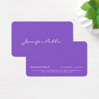 Cartão De Visitas Luxo violeta azul elegante moderno do revestimento