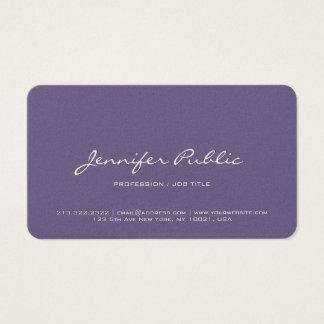 Cartão De Visitas Luxo violeta moderno profissional do revestimento