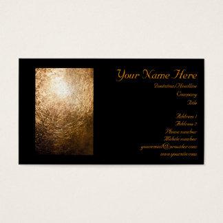 Cartão De Visitas Luz 001 do ouro